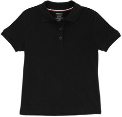 Girls' Plus Size Polo Shirt with Picot Collar
