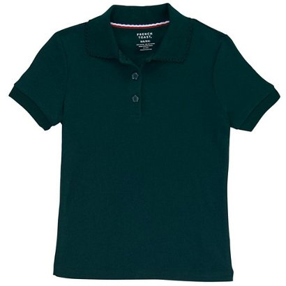e73a39b4cba French Toast Girls  Plus Size Polo Shirt with Picot Collar