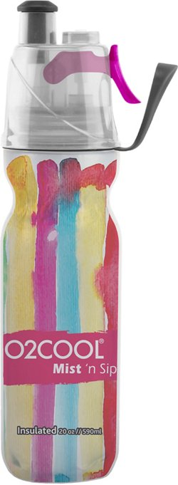 O2 COOL ArcticSqueeze Mist 'N Sip 20 oz Watercolor Collection Water Bottle