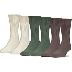 Men's Charged Cotton 2.0 Crew Socks 6 Pack