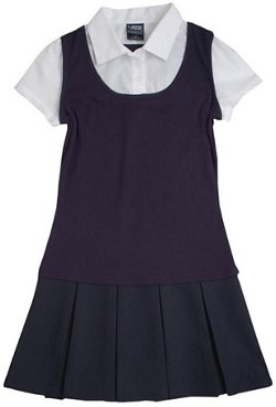 French Toast Toddler Girls' 2-in-1 Pleated Dress