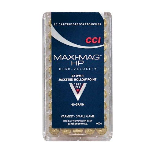 CCI® Maxi-Mag® .22 WMR 40-Grain Ammunition