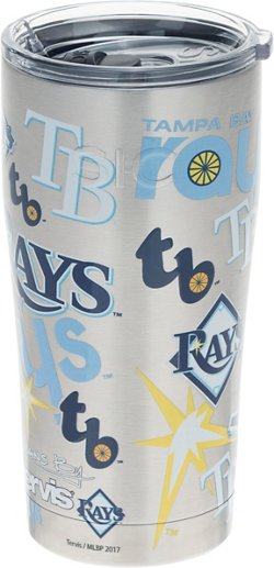 Tampa Bay Rays 20 oz All Over Stainless-Steel Tumbler