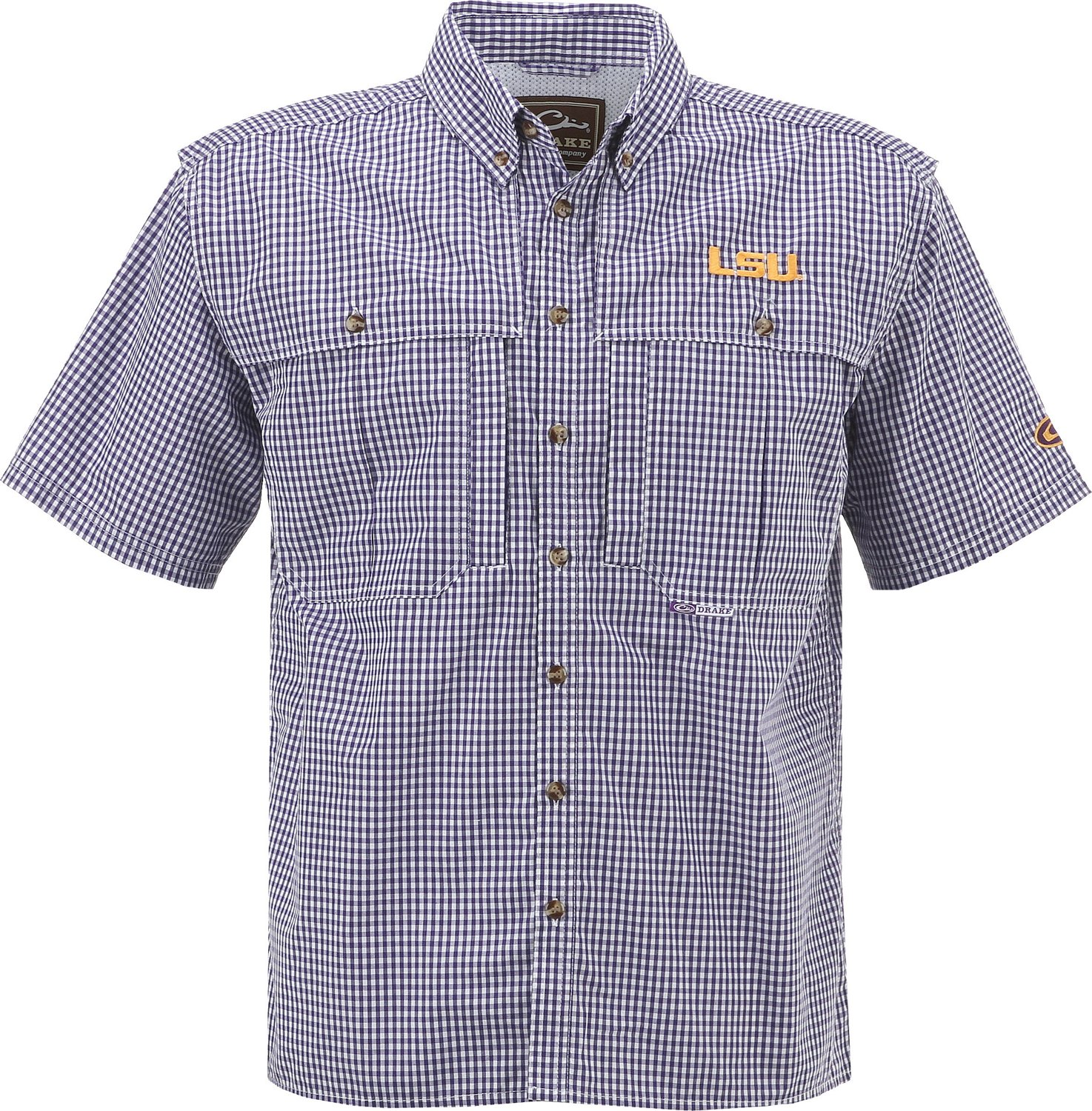 a6991e1d1a4c Display product reviews for Drake Waterfowl Men's Louisiana State  University Gameday Wingshooter's Short Sleeve Shirt
