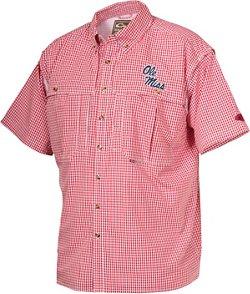 Drake Waterfowl Men's University of Mississippi Gameday Wingshooter's Short Sleeve Button-Down Shirt