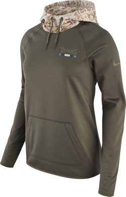 Nike Women's Tennessee Titans Salute to Service Therma-FIT Pullover Hoodie