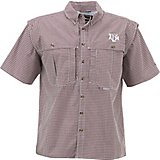 Drake Waterfowl Men's Texas A&M University Gameday Wingshooter's Short Sleeve Button-Down Shirt