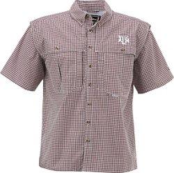 Drake Waterfowl Men's Texas A&M University Gameday Wingshooter's Short Sleeve Button-Down Shirt