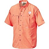 Drake Waterfowl Men's Clemson University Gameday Wingshooter's Short Sleeve Button-Down Shirt