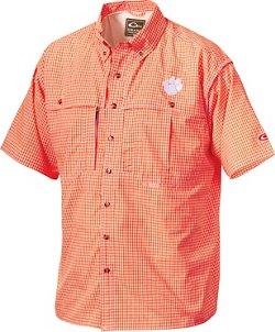 Drake Waterfowl Men's Clemson University Gameday Wingshooter's Short Sleeve Button-Down Shirt