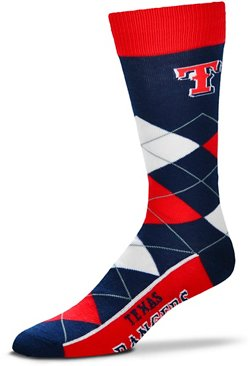 For Bare Feet Men's Originals Texas Rangers Argyle Socks