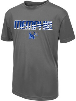 Colosseum Athletics Boys' University of Memphis Team Stripe T-shirt