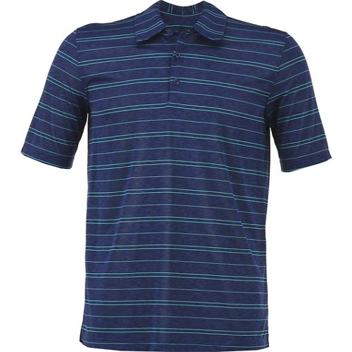 BCG Men's Melange Stripe Golf Polo Shirt