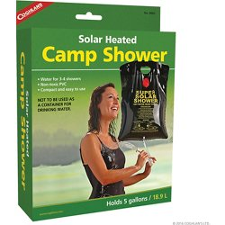 Solar-Heated Camp Shower