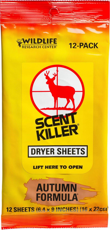 Wildlife Research Center® Scent Killer® Autumn Formula® Dryer Sheets 12-Pack