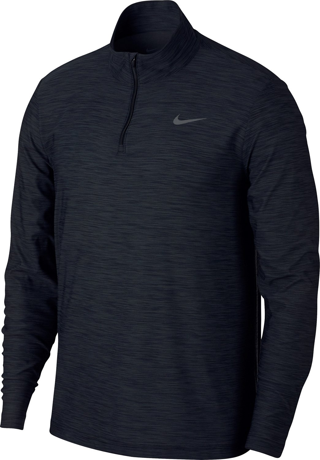 Nike Men's Breathe Dry Quarter Zip Long Sleeve Shirt (Black/Anthracite-Dark Grey