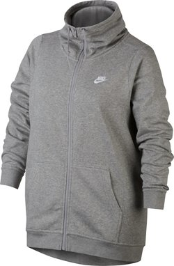 Nike Women's Club Fleece Funnel Full Zip Plus Size Hoodie