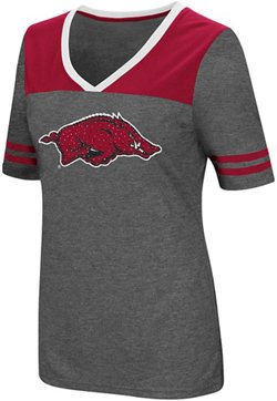 Colosseum Athletics Women's University of Arkansas Twist V-neck 2.3 T-shirt