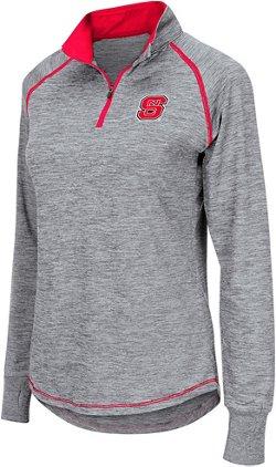 Colosseum Athletics Women's North Carolina State University Bikram 1/4 Zip Long Sleeve T-shirt