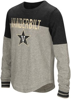 Colosseum Athletics Girls' Vanderbilt University Baton Long Sleeve T-shirt