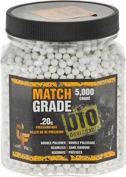 Crosman Game Face 0.20 g Match-Grade Biodegradable BBs 5,000-Pack