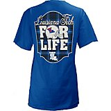 Three Square Juniors' Louisiana Tech University Team For Life Short Sleeve V-neck T-shirt