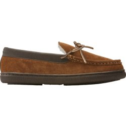 Men's Leather Moc Slippers