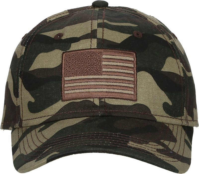 Academy Sports + Outdoors Men's Americana Camo Twill Hat (, Size One Size) - Men's Outdoor Apparel, Men's Hunting/Fishing Headwear at Academy Sports thumbnail