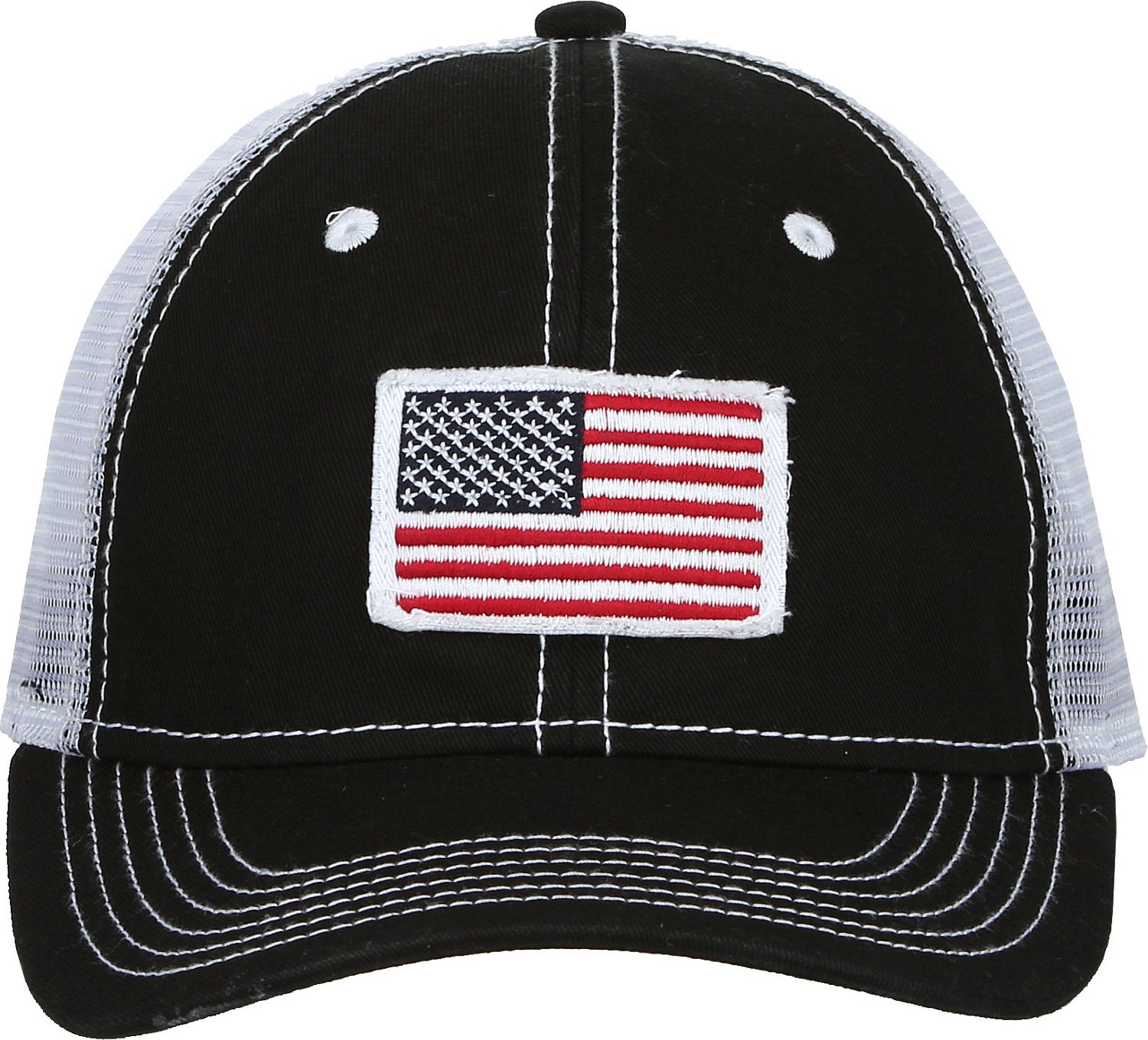 Display product reviews for Academy Sports + Outdoors Men s American Flag  Trucker Hat 67f4c3141ef