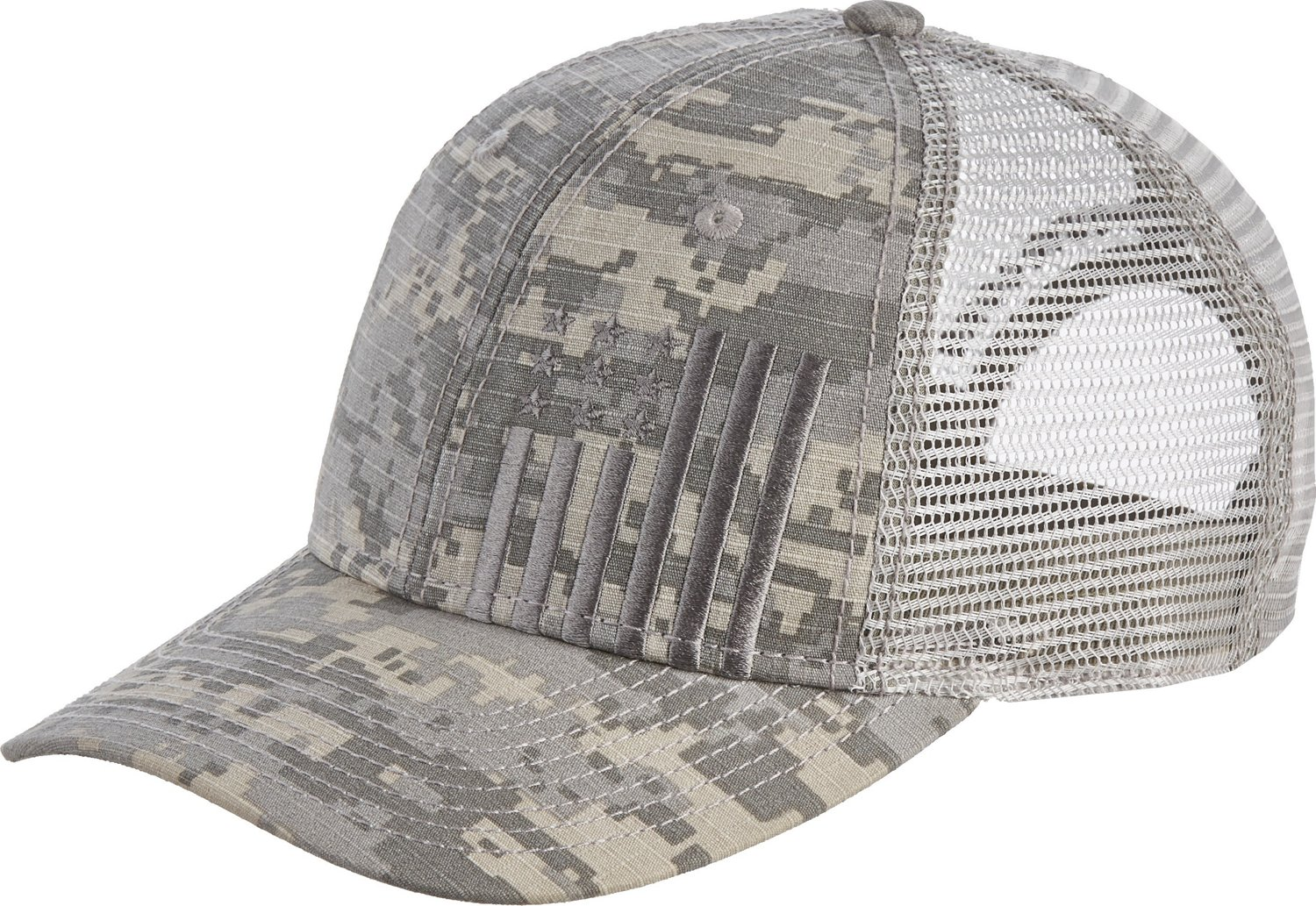 2a7984022b563 Display product reviews for Academy Sports + Outdoors Men s Flag Trucker Hat