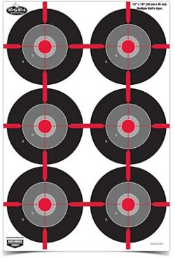 Birchwood Casey Dirty Bird 12 in x 18 in Multiple Bull's-eye Targets 8-Pack