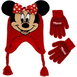 Girls' Minnie Mouse Scandi Hat and Glove Set