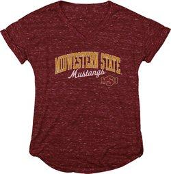 Blue 84 Women's Midwestern State University Dark Confetti V-neck T-shirt