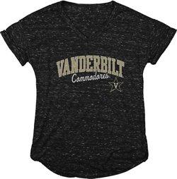 Blue 84 Women's Vanderbilt University Dark Confetti V-neck T-shirt