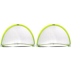 4 ft x 6 ft Hyperbrite Dome Shaped Pop Up Soccer Goal 2 Pack