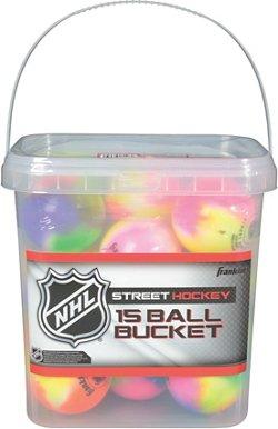 Franklin Extreme Color High-Density Street Hockey Balls 15-Pack