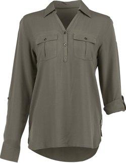 Magellan Outdoors Women's Adventure Gear Long Sleeve Henley Shirt