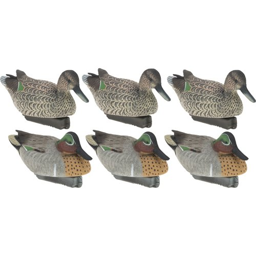 Final Approach Gunner HD Floating Green-Winged Teal Duck Decoys 6-Pack