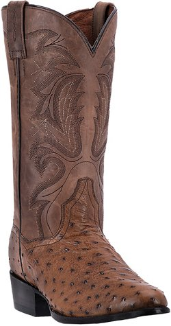 Dan Post Men's Tempe Ostrich Skin Western Boots
