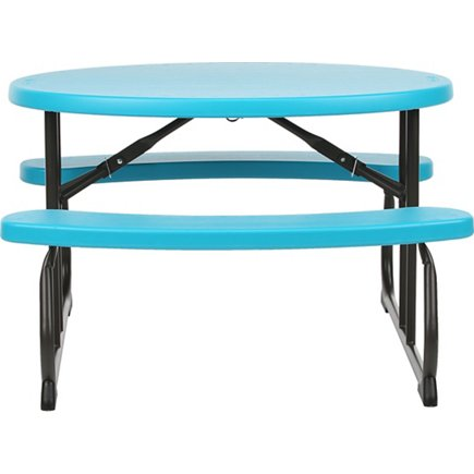 Lifetime Childrens Oval Picnic Table Academy - Teal picnic table
