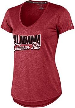 Champion Women's University of Alabama Font Script V-neck T-shirt