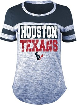 Women's Houston Texans Space Dye Foil Fan Top