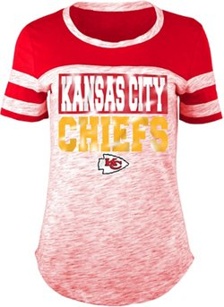 Women's Kansas City Chiefs Space Dye Foil Fan Top