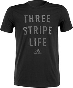 adidas Men's Three Stripe Life Metal Mesh T-shirt