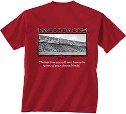 New World Graphics Men's University of Arkansas Friends Stadium T-shirt