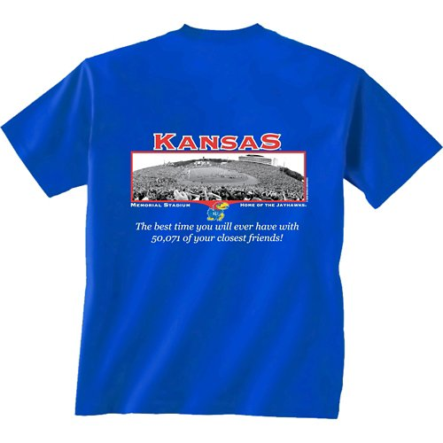 New World Graphics Men's University of Kansas Friends Stadium T-shirt