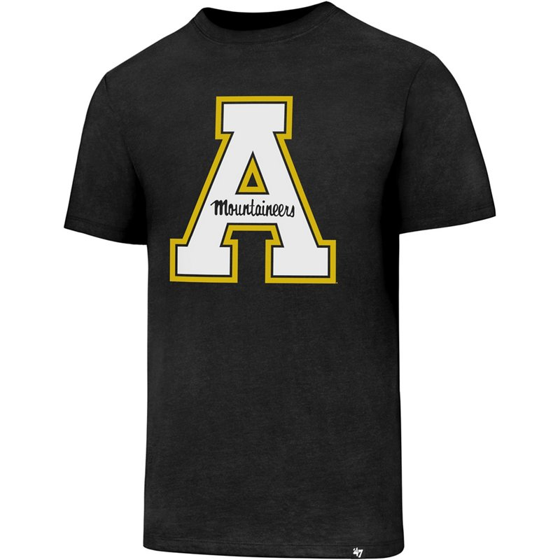 The '47 Appalachian State University Logo Club T-shirt features singleback jersey fabric and a large team graphic on the front. Available at Academy Sports + Outdoors.