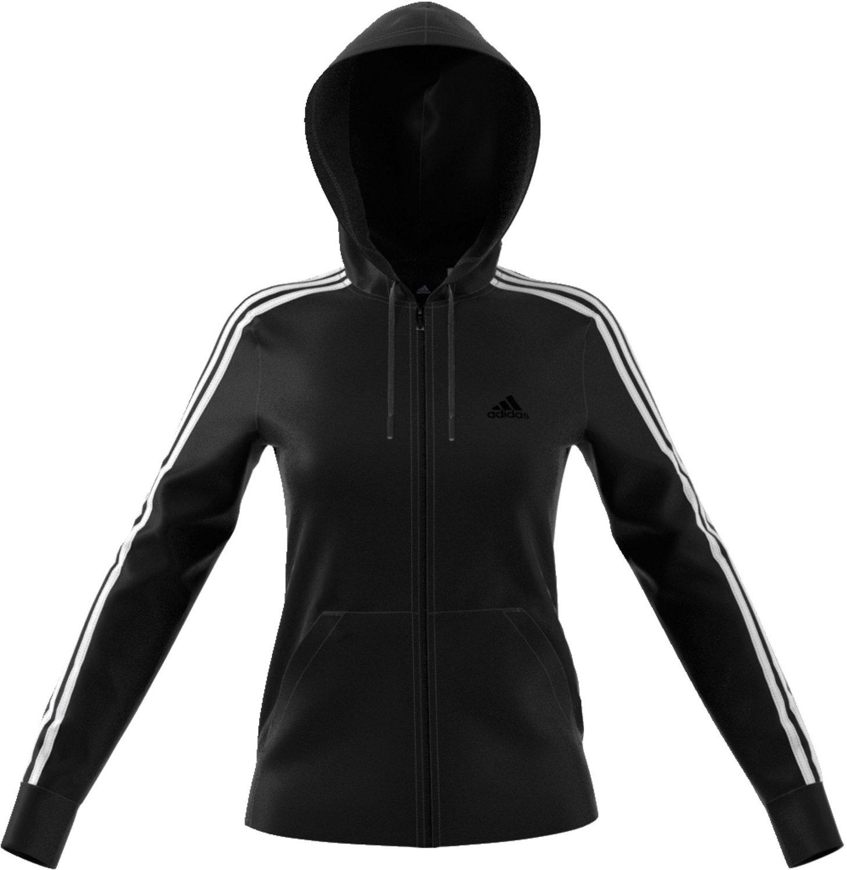 8ee04eb66694 adidas Women s Essentials Cotton Fleece 3-Stripes Full Zip Hoodie ...