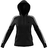 4d8fafa88715 adidas Women s Essentials Cotton Fleece 3-Stripes Full Zip Hoodie