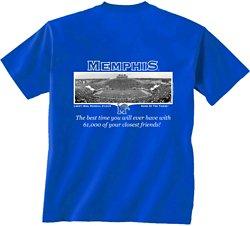 New World Graphics Men's University of Memphis Friends Stadium T-shirt
